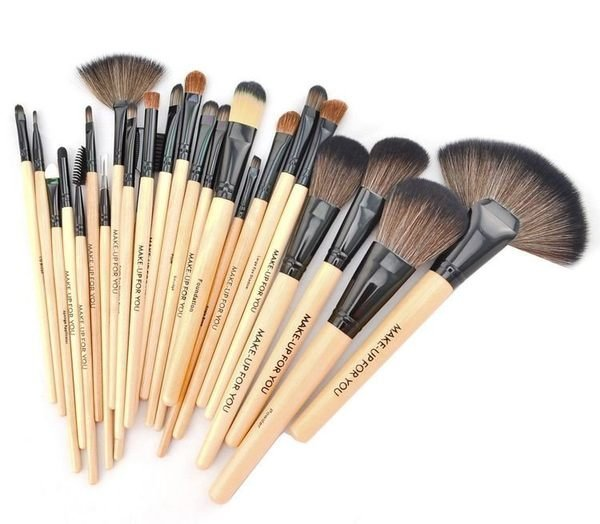 原木色專業24件MAKE-UP FOR YOU彩妝刷具組 乙 丙級考試 化妝刷批發 2