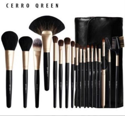 Cerro Qreen天然動物毛18支專業級化妝刷彩妝刷具組4色可選 6