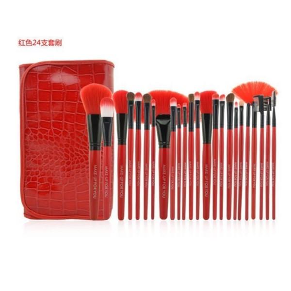 紅色專業24件MAKE-UP FOR YOU彩妝化妝刷具組 1