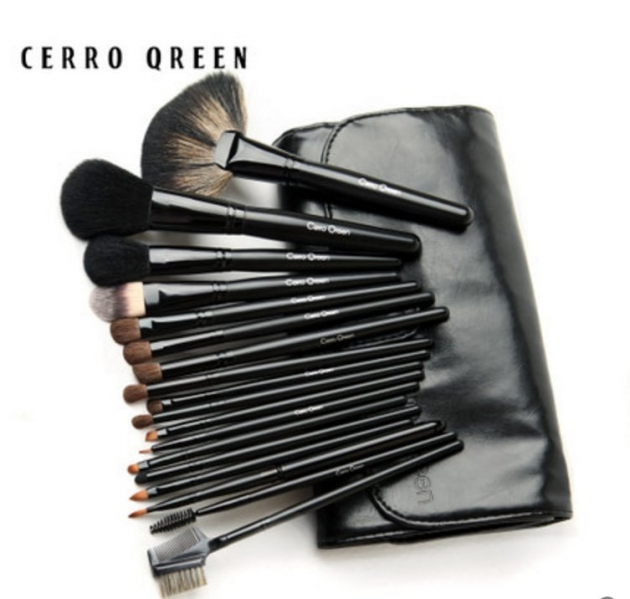Cerro Qreen天然動物毛18支專業級化妝刷彩妝刷具組4色可選 1