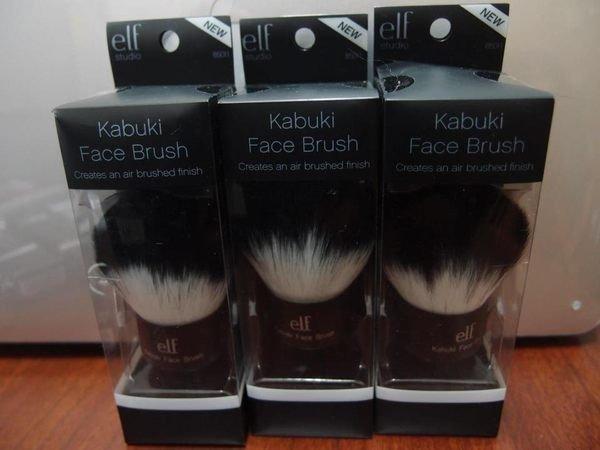 ELF 黑柄 Kabuki Faced Brush 專業歌舞伎刷/蘑菇刷 蜜粉刷 3