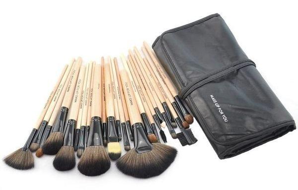 原木色專業24件MAKE-UP FOR YOU彩妝刷具組 乙 丙級考試 化妝刷批發 3