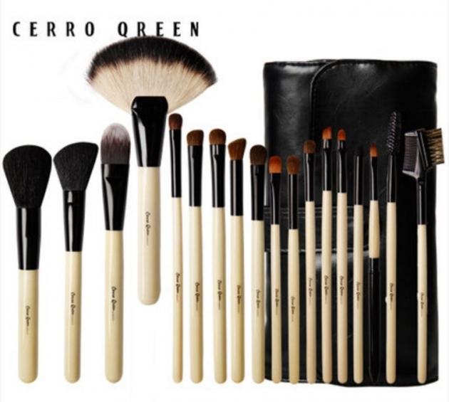 Cerro Qreen天然動物毛18支專業級化妝刷彩妝刷具組4色可選 4
