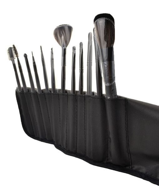MAKE UP FOR YOU 12件 波斯毛化妝刷 專業刷具套組(黑色) 美容乙丙級考試專用刷具 3