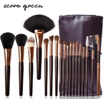 Cerro Qreen天然動物毛18支專業級化妝刷彩妝刷具組4色可選 3