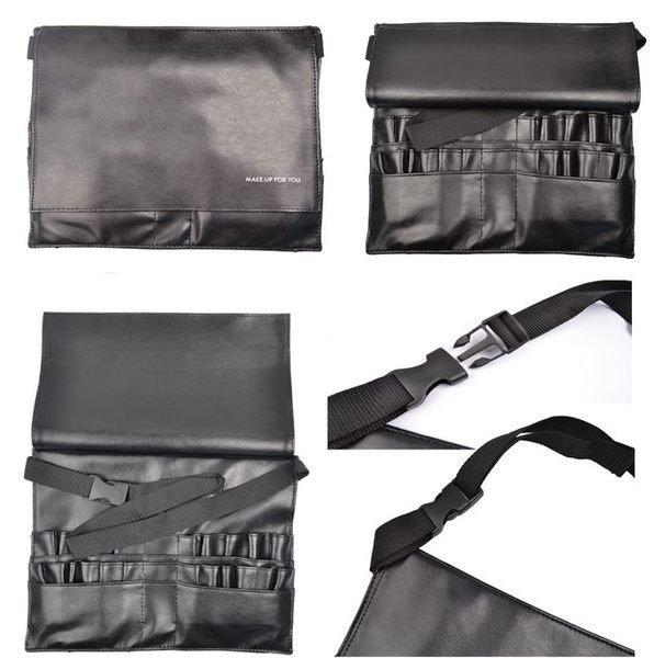 MAKE UP FOR YOU 黑色專業化妝刷腰包21個插孔 新秘 /彩妝師必備工具腰包 2
