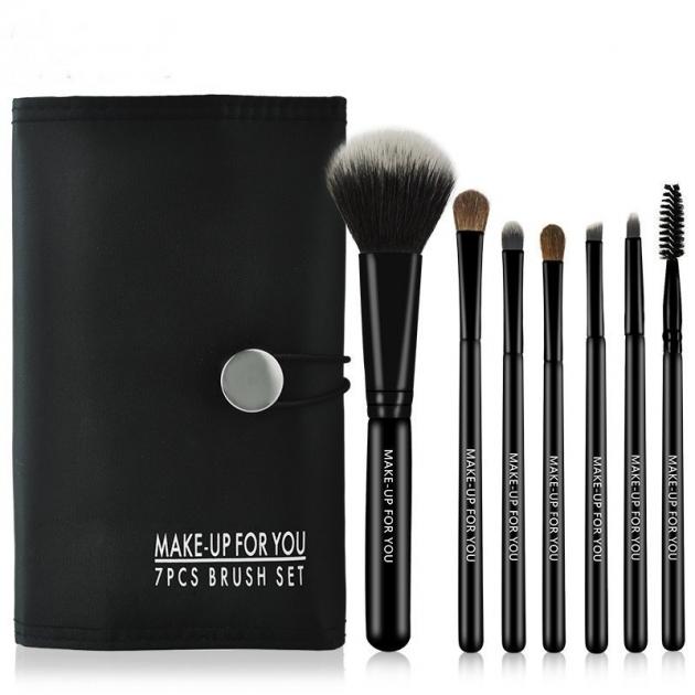 專利商標品牌MAKE UP FOR YOU 7支化妝刷套刷 黑色便攜款 1