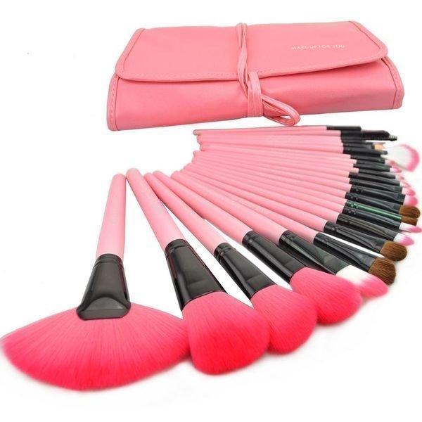 粉紅色專業24件 MAKE-UP FOR YOU 彩妝刷具組 乙 丙 級考試 批發非專櫃品 1
