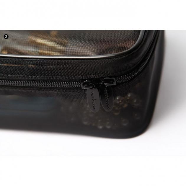 Cerro Qreen 黑色透明紗網格化妝包 洗漱收納包紗網包3個 超值組 7