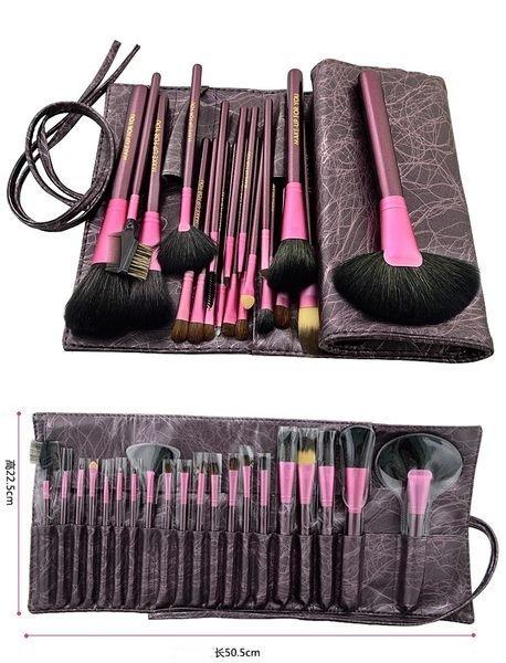 紫色高質感20件彩妝刷具組 乙丙級考試專用刷具 化妝刷批發 3