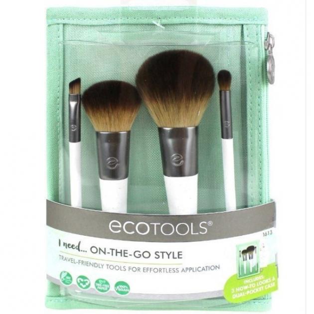 Ecotools On The Go Style Kit #1613 旅行刷具套裝 4件刷具+收納袋 1