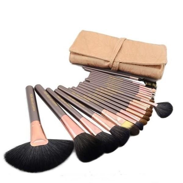 香檳色高質感 20件彩妝刷具組  乙 丙 級考試專用刷具 化妝刷批發 1
