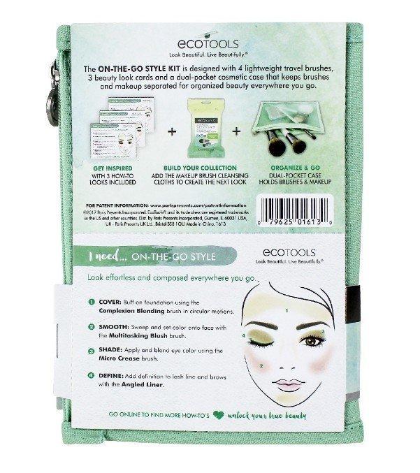 Ecotools On The Go Style Kit #1613 旅行刷具套裝 4件刷具+收納袋 5