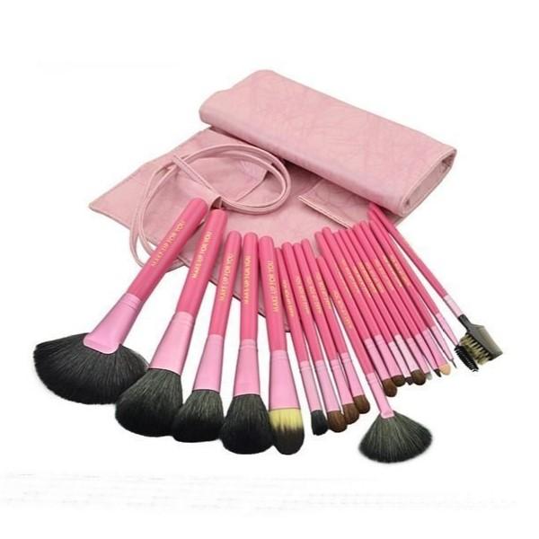粉紅色高質感 20件彩妝刷具組 乙 丙 級考試專用刷具 化妝刷批發 1
